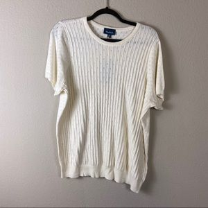 NWT MODCLOTH Cream Eyelet Knit Sweater 2X